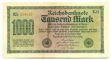 Germany Weimar Republic Reichsbanknote 1000 Mark 15.9. 1922 VF+ #75o
