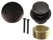 Oil Rubbed Bronze Toe Touch Bathtub Drain Bath Area Tub Shower Trim Kit