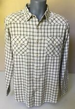 Northwest Territory Men's Western Pearl Snap Shirt Size L Green Beige Plaid    L