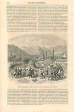 Amérique du Sud la Trilla ou dépiquage des chevaux au Chili  GRAVURE 1859