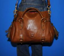 DOONEY & BOURKE Large DILLEN II Brown Leather Satchel Convertible Tote Purse Bag