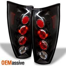 Fits 2002 2003 2004 2005 2006 Chevy Avalanche Pickup Black Tail Lights Brake
