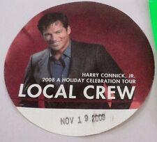 2008 Harry Connick Jr Holiday Celebration Local Crew Backstage Pass Cincinnati