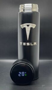 Tesla Smart Thermos Black Water Bottle With LOGO Temperature Display 500ml