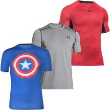 Under Armour Mens Compression T-Shirt Heatgear Gym Running Tee Tops T Shirts
