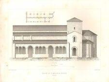 Impression architectural français 1851 ~ Eglise St Millan un plan avec Segovia