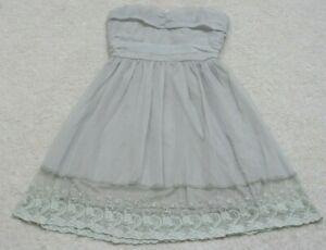 Ya Los Angeles Gray Dress Women's Womans Halter Small Solid Strapless Sleeveless