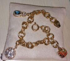 Chuck Clemency NYCII 18k yellow gold Sterling silver rainbow charm Bracelet Rare