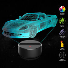 Racing car 3D LED Night Light Table Desk Lamp 7 Color Optical Illusion Lights