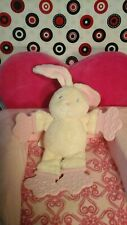 Bright Starts Bunny Teether Cream beige Pink Rattle Plush lovey Baby Toy
