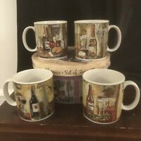 SET OF 4 SAKURA THE TABLE CLASSICO COFFEE MUGS CUPS WINE In Original Box