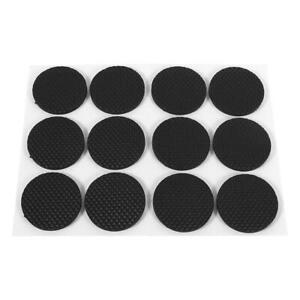12Pcs Round Rubber Pads Self-Adhesive Non-slip Floor Wall Table Protectors Home