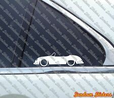 2X classic car outline stickers - for Porsche 356 Speedster | vintage