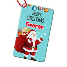 Personalised Any Name Rectangle Christmas Bauble Tree Decoration Gift 106