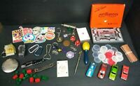 Junk Drawer Lot - Vintage game pieces and lucky charms - poker chips...