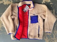 NWT Patagonia Vintage Retro-X Fleece Jacket Mens L large cream cardigan USA RARE