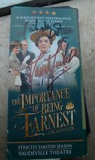 DAVID SUCHET & MICHELLE DOTRICE SIGNED THE IMPORTANCE OF BEING EARNEST FLYER