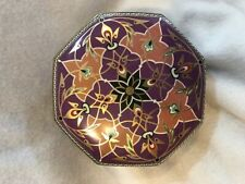 Meister Made In England Metal Tin Purple and Gold