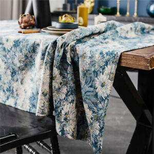 Vintage Printed Tablecloth Tassel Table Cloth Cover Dining Kitchen Home Decor