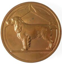 France canine award dog  SPANIEL bronze 50mm by Briquemont