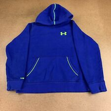 Under Armour Storm Youth Size large Loose Blue Pullover Hoodie *Flaw*