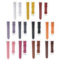 Universal 18mm PU Leather Watch Strap Band Wristwatch Strap Replacement