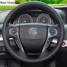 New DIY Sewing-on PU Leather Steering Wheel Cover Exact Fit For Honda Accord 9th
