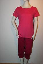 "Triumph Pyjama ""Summer Casual PK 2P"" Gr. 38 beere rosa Hose knielang Loungewear"