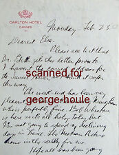 GEORGE CUKOR - LETTER - SIGNED - 1953  - AA - GWTW - SOMERSET MAUGHAM