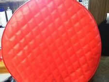 "FUEL TANK COVERS PETERBILT 2- 26"" TANK  COVERS  VIPER  RED QUILTED DIAMONDS"