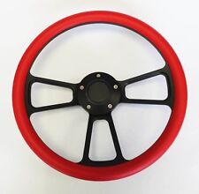 """1973-1991 Honda Civic Accord Prelude Red Grip on Black Steering Wheel 14"""""""