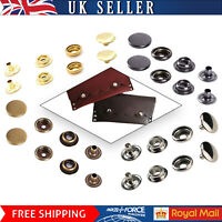 17mm Brass Large Press Studs Snap Fasteners 4 Parts Sets Button for DIY Clothing