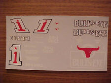 1986 STERLING MARLIN #1 BULLS EYE BBQ SAUCE 1/24-1/25 SCALE WATER SLIDE DECAL