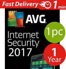 Avg internet security 2018 (1) pc (1) year lisence Worldwide & download