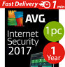 Avg internet security 2017 (3) pc (1) year lisence Worldwide & download