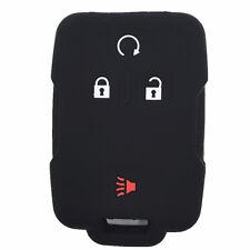 Black Rubber Keyless Entry Remote Key Fob Case Skin Cover for Chevrolet Colorado