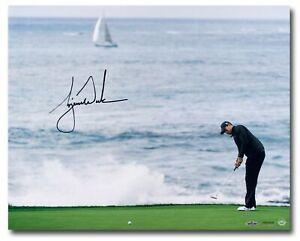 """Tiger Woods Signed Autographed 16X20 Photo """"Crashing Waves"""" Pebble Beach UDA"""