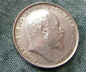 Edward  VII 1907 Sixpence Excellent Top Grade.