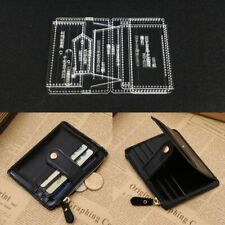 Acrylic Template Clear Wallet Zipper Purse Pattern Leathercraft Supplies Tools