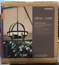 Allen + Roth - Dark Brown  Gazebo Chandelier Light LED Candles Included