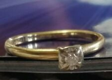TRUBRITE 14KT YELLOW GOLD DIAMOND RING SOLITAIRE VINTAGE SZ 5