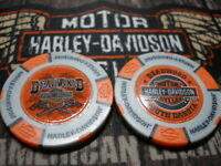 "Grey & Orange ""Guns"" Poker Chip Deadwood Harley Davidson Deadwood, SD"