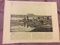 Antique Book Print - Bundoran OR Wigtown - UK - c. 1895