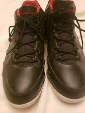 Jordan Retro 9 Nike Black Bred Low Top Snakeskin Basketball Shoes Men's Size 12