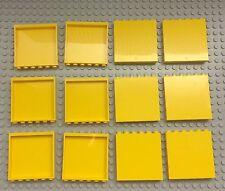 Lego X12 New Yellow Panel 1x6x5 Parts / Classic Regular Yellow Color Bulk Lot