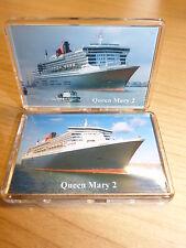 Cunard Line QUEEN MARY 2 2x Fridge Magnet Set Cruise Ship Liner