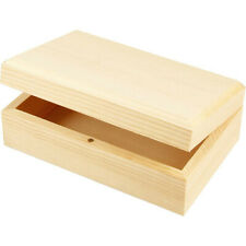 Wooden Oblong Box Multi Use Purpose Jewellery Stash Rectangle Magnetic Pot 57630