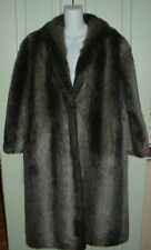 ESTATE Mirage Rich Grey & Brown Faux Fur Coat Ladies Size 10 BARELY WORN LNC