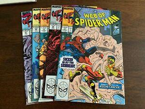 Web of Spider-Man #57 - 61 (1989, Marvel) LOT OF 5 Dr. Doom NM-s
