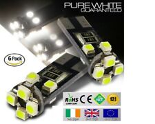 6x T10 W5W 501 Wedge CanBus LED No Error Free HID 6000K White Bulbs Side Lights